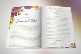 baby funeral program purple watercolor funeral program publisher template on behance