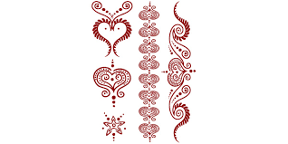 henna hearts 1 temporary tattoo 90 hen 14001