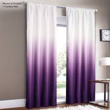 Long White Curtains Amusing Purple And White Curtains 15 On Extra Long Curtain Rods