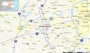 road map massachusetts usa massachusetts route 85