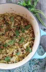bacon u0026 sausage braised cabbage