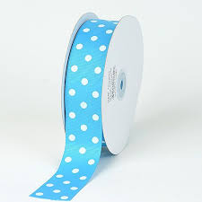 grosgrain ribbon bulk 3 8 inch turquoise with white dots grosgrain ribbon polka dot