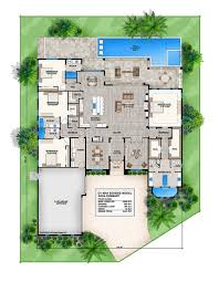 home design dual master suite plans h shaped house with pool in