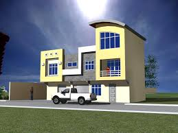 Triplex House Plans Triplex 90 Meters Square Design A House Floor Plan