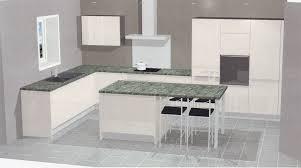 plan de cuisine en l plan cuisine en 3d bien cuisine blanche plan de travail noir d