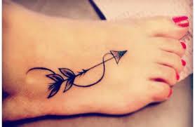 71 beautiful arrow tattoos on foot