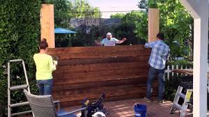 diy privacy fence lowe u0027s hypermade youtube
