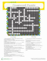literary terms crossword puzzle worksheet education com