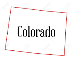 State Of Colorado Map by State Map Outline Of Colorado Over A White Background Royalty Free