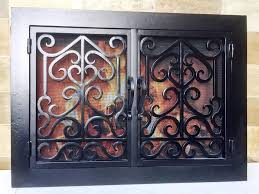 wrought iron fireplace doors home fireplaces firepits