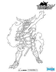 Coloriage BEYBLADE Samurai Ifrit