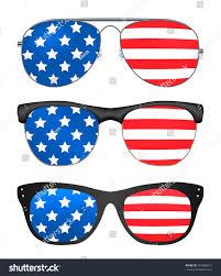 Flag Sunglasses Sunglasses United States America Flag Stock Vector 653588614