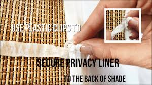 how to install a fabric privacy liner to the back of a roman