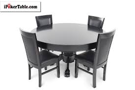 4 person table set nighthawk round 4 person poker table set with dining top and 4