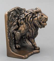 lion bookends bronze lion bookends