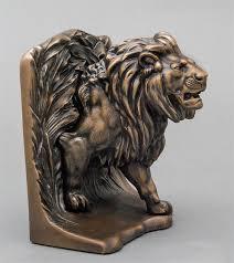 lion book ends bronze lion bookends