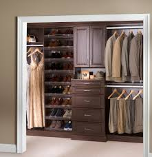 Cloth Closet Doors Furniture Cool Walk In Closer Design With Brown Wooden