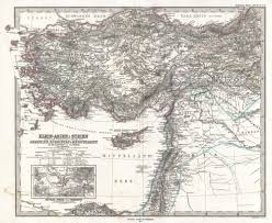 Map Of Israel And Syria by File 1873 Stieler Map Of Asia Minor Syria And Israel Palestine