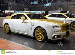 gold rolls royce mansory rolls royce wraith editorial stock photo image 68801803