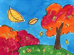 easy landscape paintings for kids pastel painting how to draw a