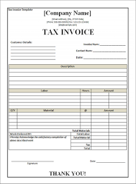 Illustration Invoice Template Download Tax Invoice Form Rabitah Net