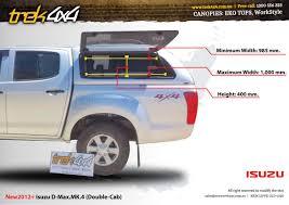 isuzu dmax lifted isuzu d max 2012 dual cab canopy