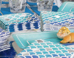 mermaid party supplies blue mermaid party tablecover blue mermaid party