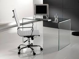 Schreibtisch Ausfahrbar Clear Schreibtisch Für Computer Aus Glas
