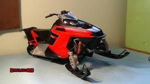 rc snowmobile polaris toy made a little bit better