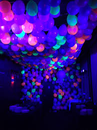 vodka tonic blacklight neon ballon ceiling with black light balloon images pinterest