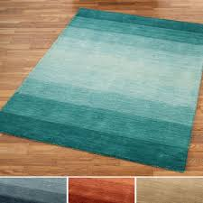 Brown And Turquoise Area Rugs Brennon Hand Loomed Wool Ombre Area Rugs