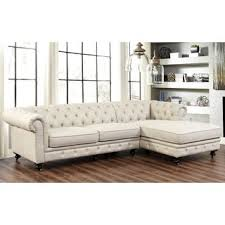 Overstock Sectional Sofas Shop For Abbyson Living Italian Fabric Tufted Chesterfield