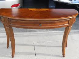 Half Circle Entry Table Table Designs