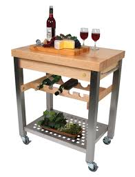 john boos cucina d u0027vino wine cart hard maple top u0026 steel base at