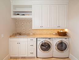 small laundry room design with stylish minimalist utility room