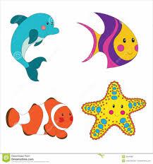 cartoon sea creatures clipart clipart kid sea creatures pictures
