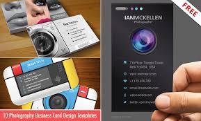 business card design templates for photographers ai psd