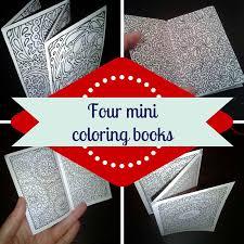 mini coloring book 4 hearts mandalas