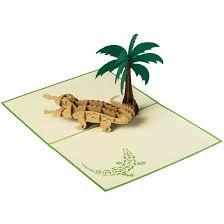 Tree Pop Up Alligator Palm Tree Open Card Now
