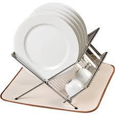 Dish Rack And Drainboard Set Dish Drying Mat Walmart Com