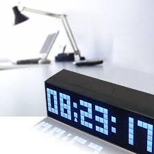 desk alarm clock riorand large big number jumbo led snooze wall desk alarm clock