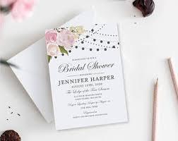 diy bridal shower invitations diy bridal shower etsy