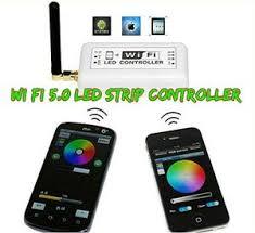 led strip lights wifi controller 16 ft battery powered octopak wifi controlled 5050 rgb led strip