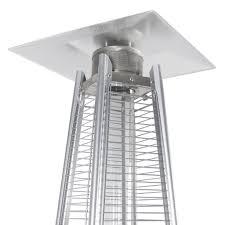 flame patio heater 42 000 btu stainless steel patio heater outdoor pyramid propane