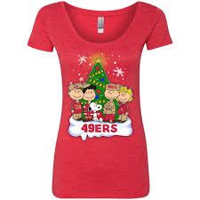 snoopy christmas t shirt snoopy the peanuts san francisco 49ers christmas t shirts best