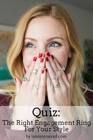 conrad wedding ring quiz the right engagement ring for your style conrad