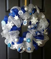 where to buy hanukkah decorations hanukkah wreath hanukkah decorations blue and silver wreath