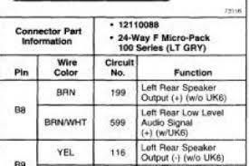 gmc jimmy speaker wire colors wiring diagram
