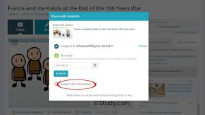 how to create assignments in your study com virtual classroom