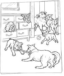 dog house coloring pages dog playtime coloring pages hellokids com
